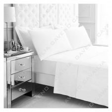 PERCALE FLAT SHEET WHITE