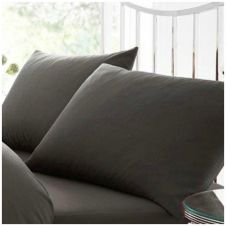 PERCALE PILLOW CASE CHARCOAL