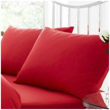 PERCALE PILLOW CASE RED