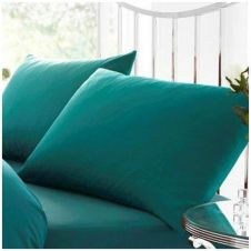 PERCALE PILLOW CASE TEAL