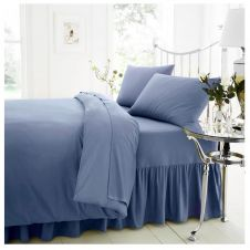 PERCALE VALANCE SHEET BLUE