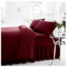 PERCALE VALANCE SHEET BURGUNDY