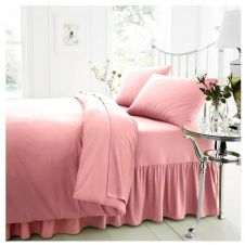 PERCALE VALANCE SHEET PINK