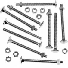 Picardy Carriage Bolts With Hex Nuts - M6 x 3