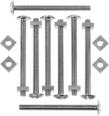 Picardy Roofing Bolts With Nuts - M6 x 2