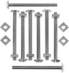 Picardy Roofing Bolts With Nuts - M6 x 3 1/8