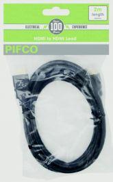 Pifco HDMI To HDMI Lead - 2m