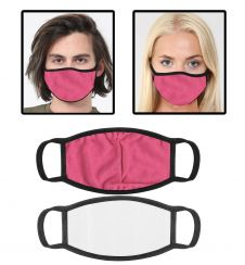 Pink Cotton Face Mask With Filter Pocket