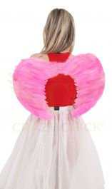 Pink Feather Wings Medium(Folding)