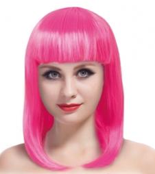 Pink Long Bob Wig