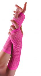 Pink Long Fishnet Gloves (Dozen)