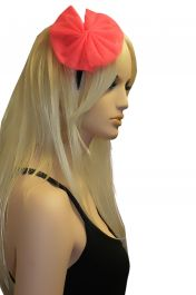 Pink Net Flower Head Band
