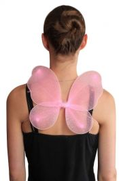 Pink Small Glitter Net Fairy Wings