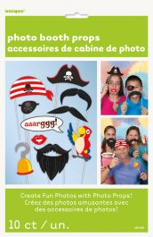 Pirate Photo Props (Pack of 10)