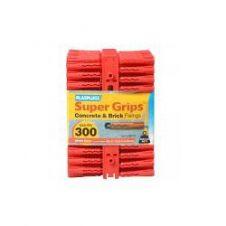 Plasplugs Super Grips Fixings - Red - 300 Pack