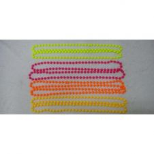 Plastic Bead Necklaces Neon Assorted (Approx 48 inches)