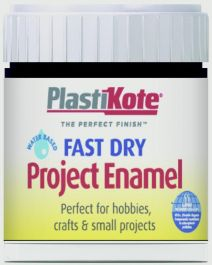 PlastiKote Fast Dry Enamel Brush On - Black Gloss - 59ml Bottle