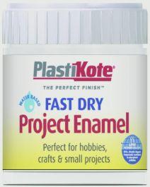 PlastiKote Fast Dry Enamel Brush On - Gloss White - 59ml Bottle