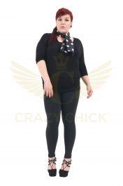 Plus Size Ladies Black Cotton Leggings