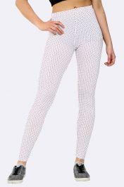 Polka Dot Print Full Length Leggings