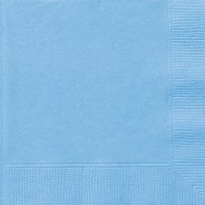 Powder Blue Lunch Napkins (Pack of 50)