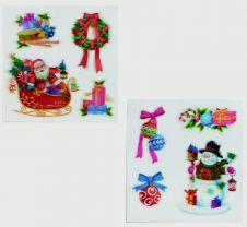 Premier 2 Assorted 3D Santa Image - 24x23