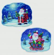 Premier 2 Assorted 3D Santa Image - 25x32