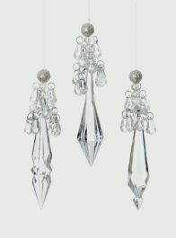 Premier 3 Assorted Crystal Drop - Pearl 15cm