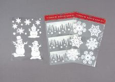 Premier 3 Assorted Flocked Window Stickers