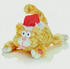 Premier Animated Laughing Cat - 28cm