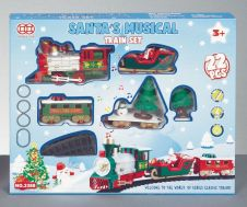 Premier Battery Operated Xmas Train Set With Music - Jingle Bells - 22 Piece