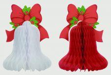 Premier Bell Decoration 40 x 30cm - Red / White
