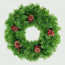 Premier Berry & Cone Wreath - 50cm