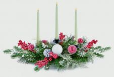 Premier Berry Candle Holder - Red White 68cm