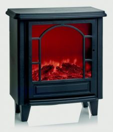 Premier Black Fireplace With Timer - 21cm