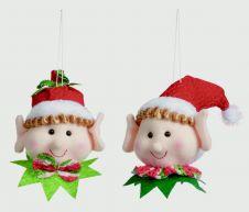 Premier Boy Girl Elf Head - 10cm