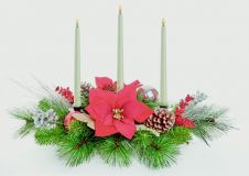 Premier Candle Centerpiece - Red Gold Silver 70cm