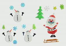 Premier Christmas Gel Stickers - 50 x15 Santa & Snowman Assorted