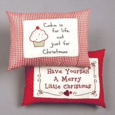 Premier Christmas Pillow - 33cm 2 Assorted