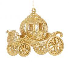 Premier Cinderella Glitter Carriage Trim - Gold 12cm