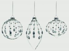 Premier Clear With Silver Jewel Drop Ball - 8cm