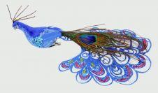 Premier Clip On Peacock - 21cm Blue
