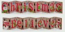 Premier Concertina Signs - 72 x 8cm Christmas or Believe