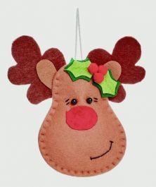 Premier Cute Reindeer Head Trim - 12cm