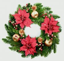Premier Decorated Garland - 60cm Red/Gold