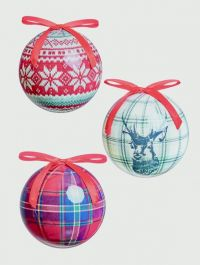 Premier Deer And Plaid Ball - 75mm Assorted