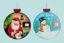 Premier Diamond Santa Snowman Countdown Scene Disc - 32cm