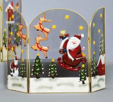 Premier Fireguard With Santa And Sleigh - 49cm