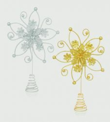 Premier Flower Star Tree Topper - 28 x19 Assorted Colours Available