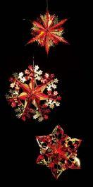 Premier Foil Starbursts 3 Pack - 40cm Red & Gold